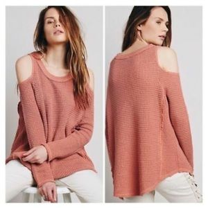 Free People Cold Shoulder Sweater (Like New)